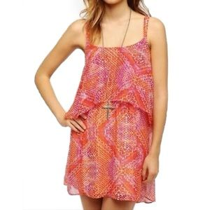 Urban Outfitters Tiered Chiffon Dress